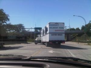 NYRA van to Belmont