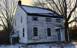 old farmhouse, winter