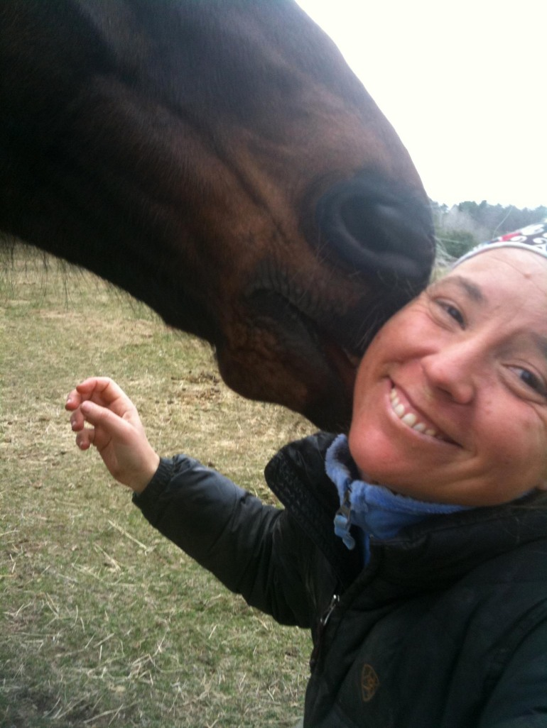 Thoroughbred and human