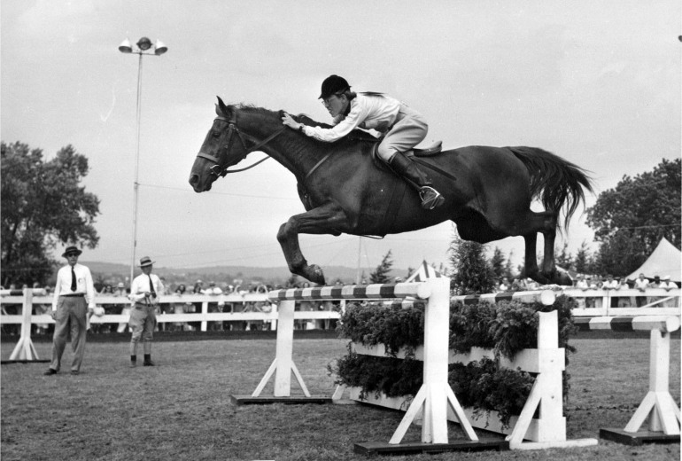 jane pohl rides show jumper Fitzrada, Thoroughbred