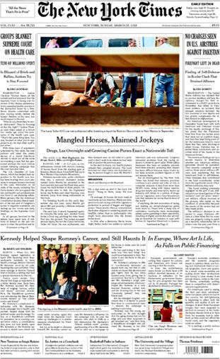 New York Times horse racing image