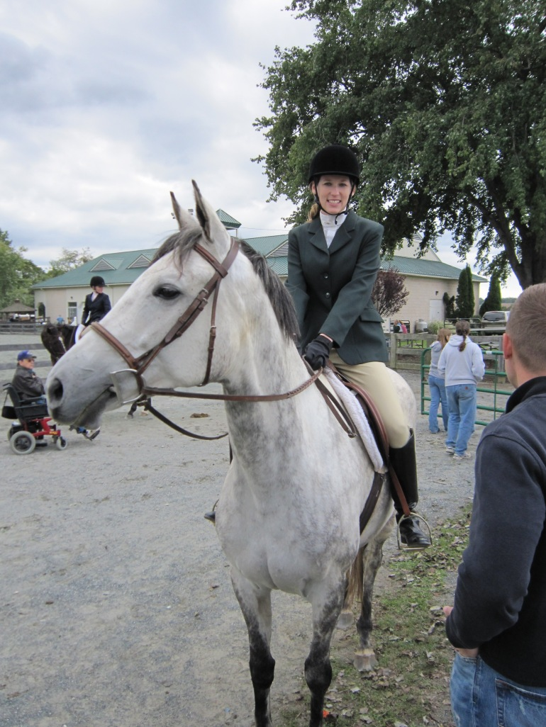 Gray Thoroughbred mare