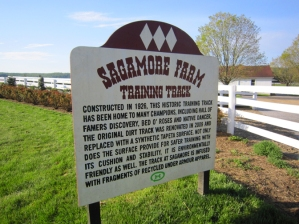 Sagamore Farm training track sign