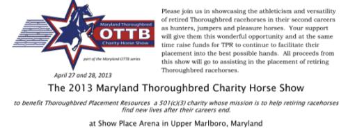 TPR OTTB Horse Show